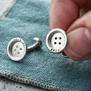 Personalised Button Cufflinks