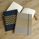 Recycled Leather Chevron Address Book