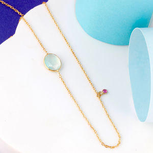 Aqua And Ruby Gemstone Necklace - view all fine jewellery
