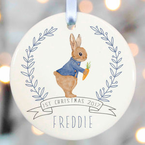 Personalised Babys First Christmas - tree decorations