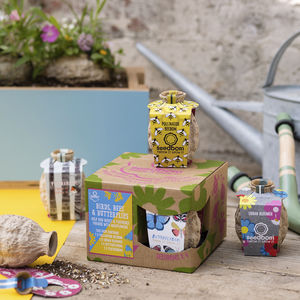 Birds, Bees And Butterflies Seedbom Gift Box - garden gifts for children
