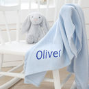 Personalised Blue Cellular Blanket