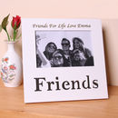 Personalised Friends Photo Frame White