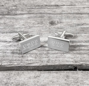 Personalised Dates Cufflinks