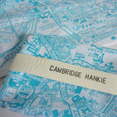 'Cambridge Hankie' Map Handkerchief