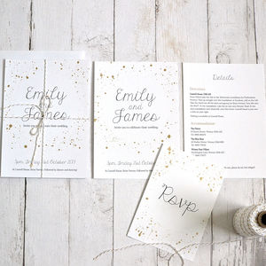 Gold Details Wedding Invitation - invitations