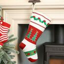 Christmas Spirit Knit Pom Pom Stocking