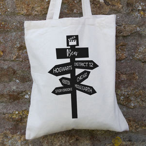 Personalised Movie Signpost Bag - bags
