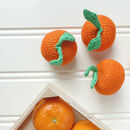 Clementine Orange Fruit Crochet Cotton Soft Toy