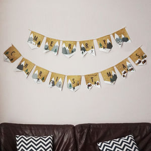 Merry Christmas Bunting Banner - view all decorations