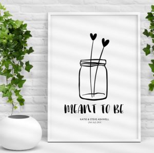 'Meant To Be' Personalised Wedding Gift