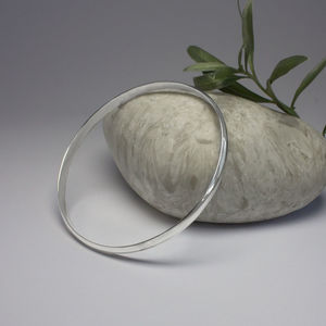Sterling Silver Polished Finish Bangle