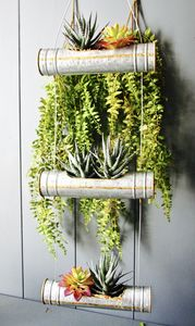 Zinc Tube Triple Tiered Planter