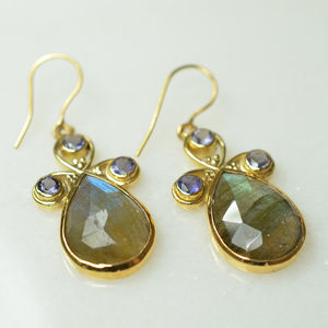 Nikita Earrings Labrdaorite Iolite - earrings