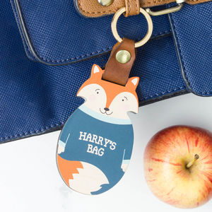 Personalised Wood School Bag Tag