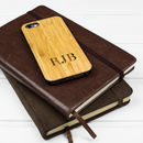 Personalised Monogrammed iPhone Six Wooden Case