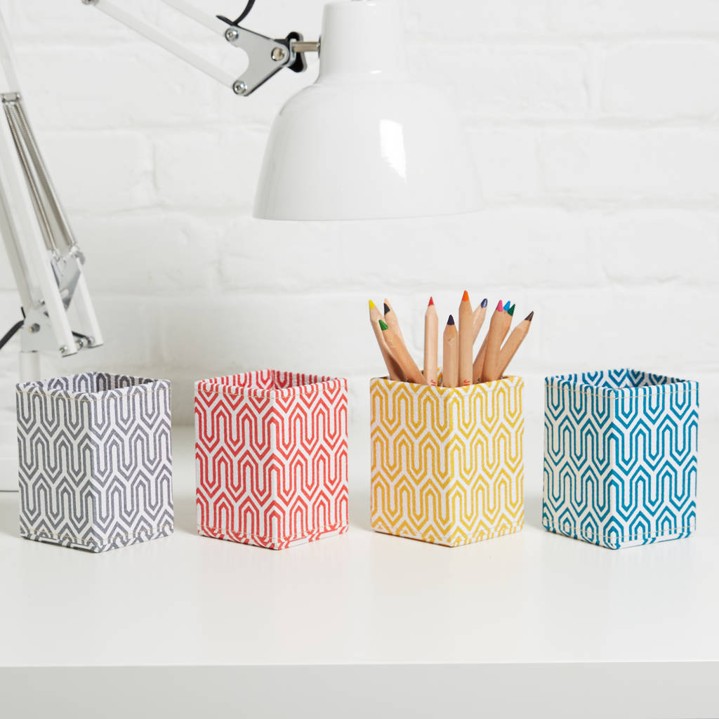 Recycled Graphic Print Pen Pot