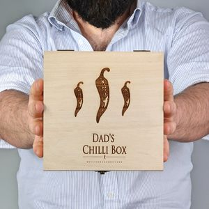Dad's Chilli Gift Box With Chilli Sauces - gifts for fathers
