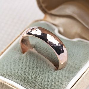 Simple Handmade Mens Wedding Band - wedding rings