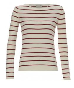 Breton Cotton Striped Long Sleeved Top - women's fashion
