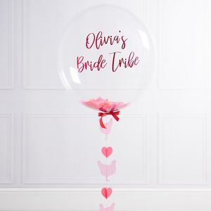 Personalised Hen Party Bubble Balloon - hen party ideas