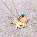 Elephant Lucky Charm Necklace In Gold