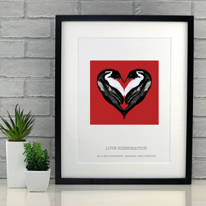 Personalised Love Hibernation Penguin Print