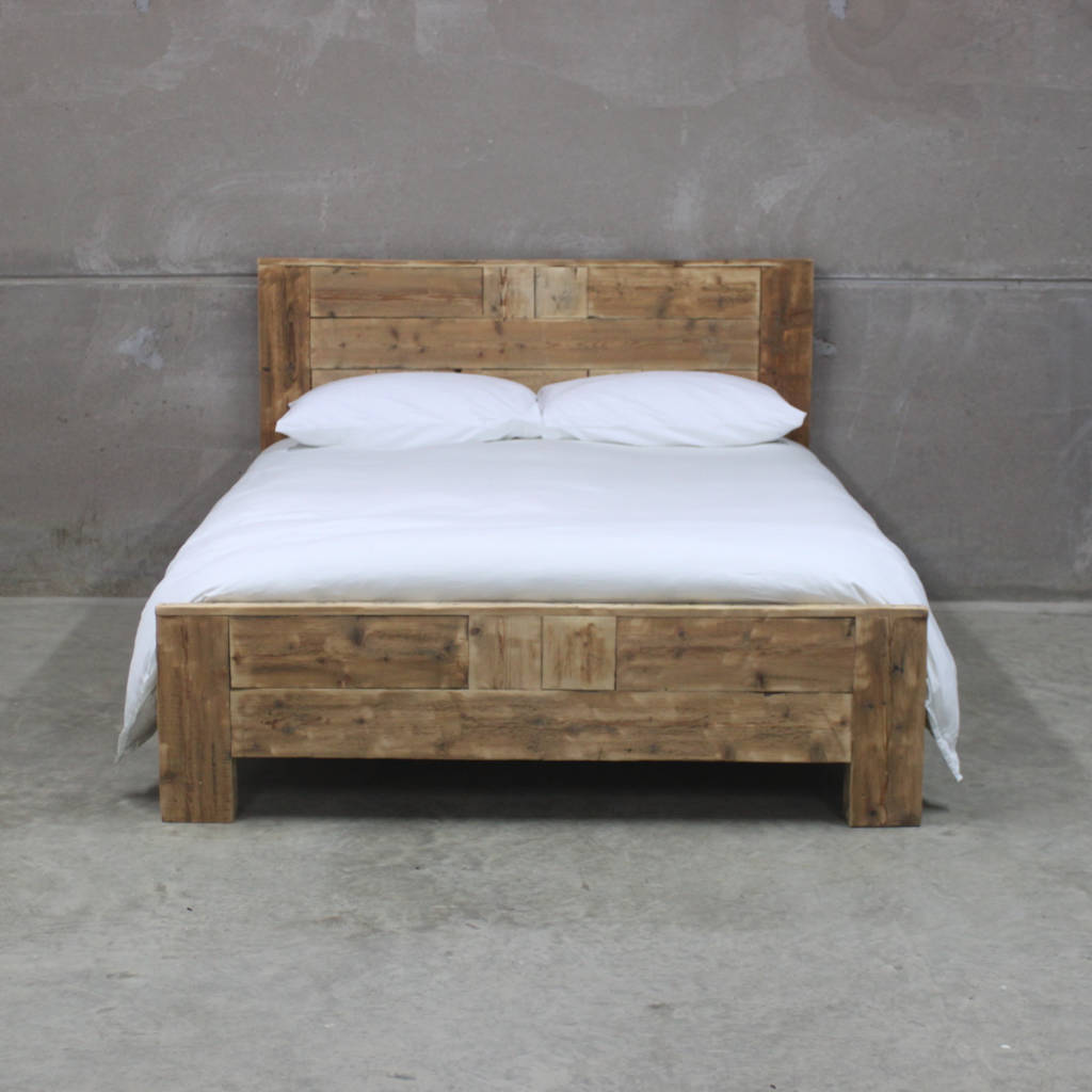 reclaimed king at wood furniture bed white gardner barn barns from renewal product