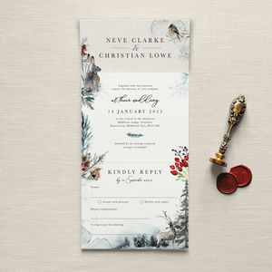 A Winter's Tale Wedding Invitation - table plans