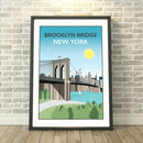 Brooklyn Bridge, New York, USA Print