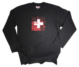 Men's Black Bar Suisse Long Sleeve Top