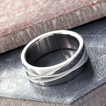 Men's Stainless Steel Ring Can Be Personalised