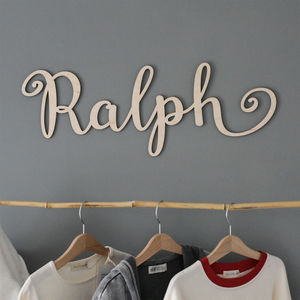 Personalised Wooden Name Sign Plaque - view all new