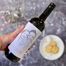 Personalised Portrait Wine Labels