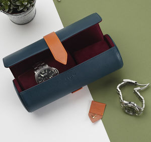 Luxury Personalised Soft Leather Watch Roll - valentine's gifts for him