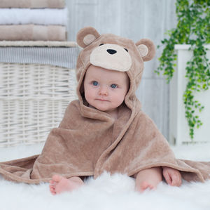 Personalised Toffee Teddy Baby Towel