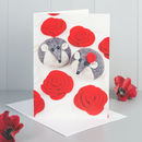 Mice And Roses Greeting Card