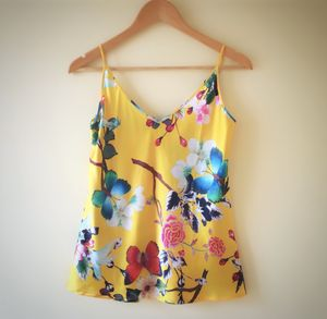 Tropical Print Silk Camisole