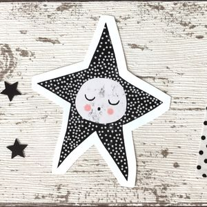 Sleepy Star Small Wall Sticker - wall stickers