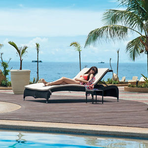 Ocean Adjustable Stacking Rattan Sunbed - chairs