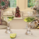 Set Of Two Extra Large Hand Blown Gin Glasses