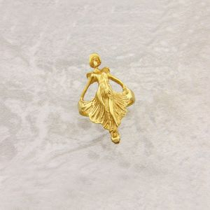 Art Nouveau Dancer Ring In Solid Gold