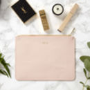 Personalised Monogram Real Leather Pouch