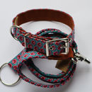 Pink Paisley Design Collar With Matching Lead
