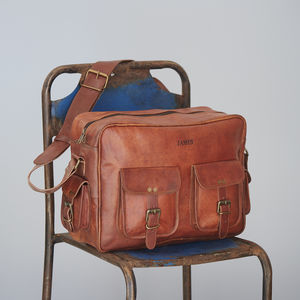 Personalised Leather Overnight Bag - luggage