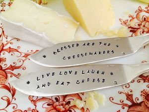 Personalised Silver Plated Cheese Knife - cheese boards & knives