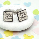 Father Of The Groom 'Confetti' Cufflinks