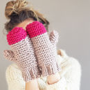 Knit Kit Colour Pop Knitted Mittens