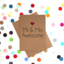 'Mr And Mrs Awesome' Funny Wedding Card
