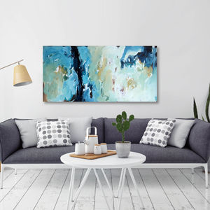 'Delirious ' Original Blue Abstract Canvas Painting